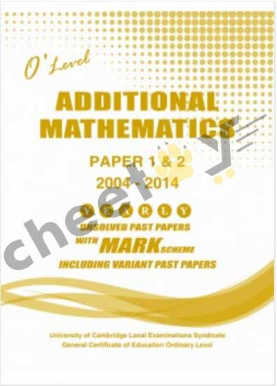 Additional Mathematics Paper 1 And 2 O/L