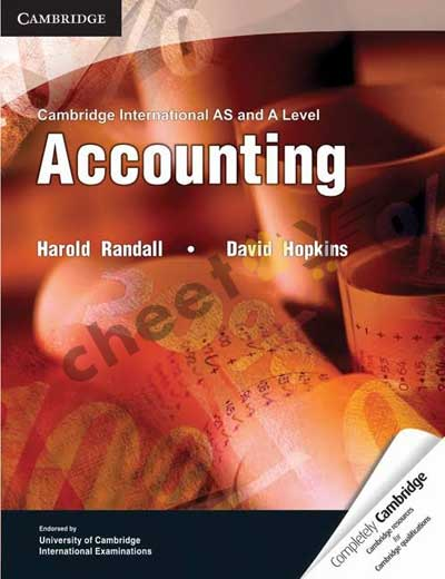 Cambridge AS And A Level Accounting By Harold Randall