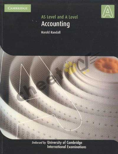 Accounting AS And A Level (PB) 2010