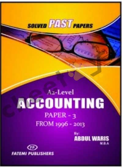 Accounting Paper 3 Solved