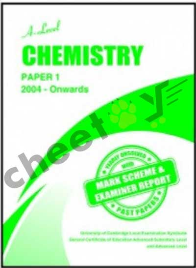 A Level Chemistry Paper 1