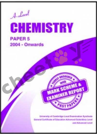 A Level Chemistry Paper 5