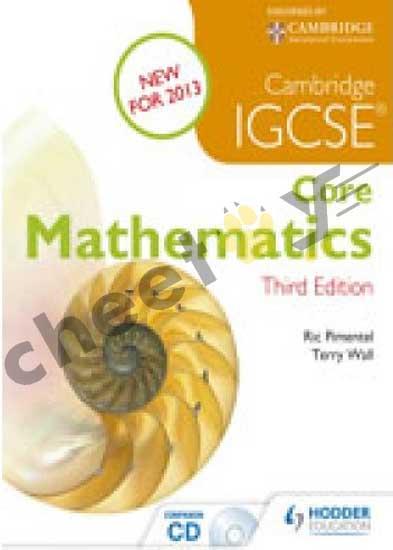 Cambridge IGCSE Core Mathematics (With Companion CD) 3E 2013