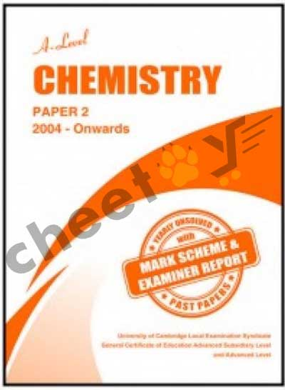 A Level Chemistry Paper 2