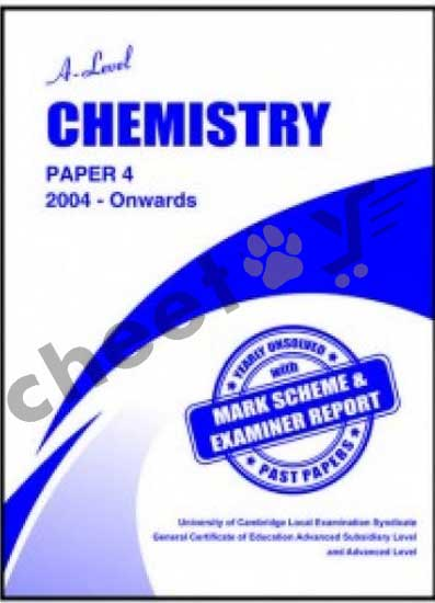 A Level Chemistry Paper 4